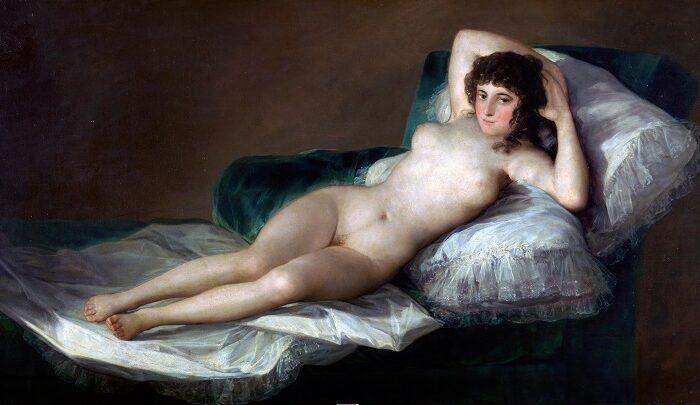 pintar al óleo desnudo