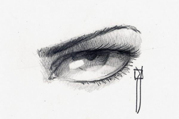 Como dibujar ojos a lápiz rabia