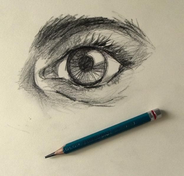 Como dibujar ojos a lápiz
