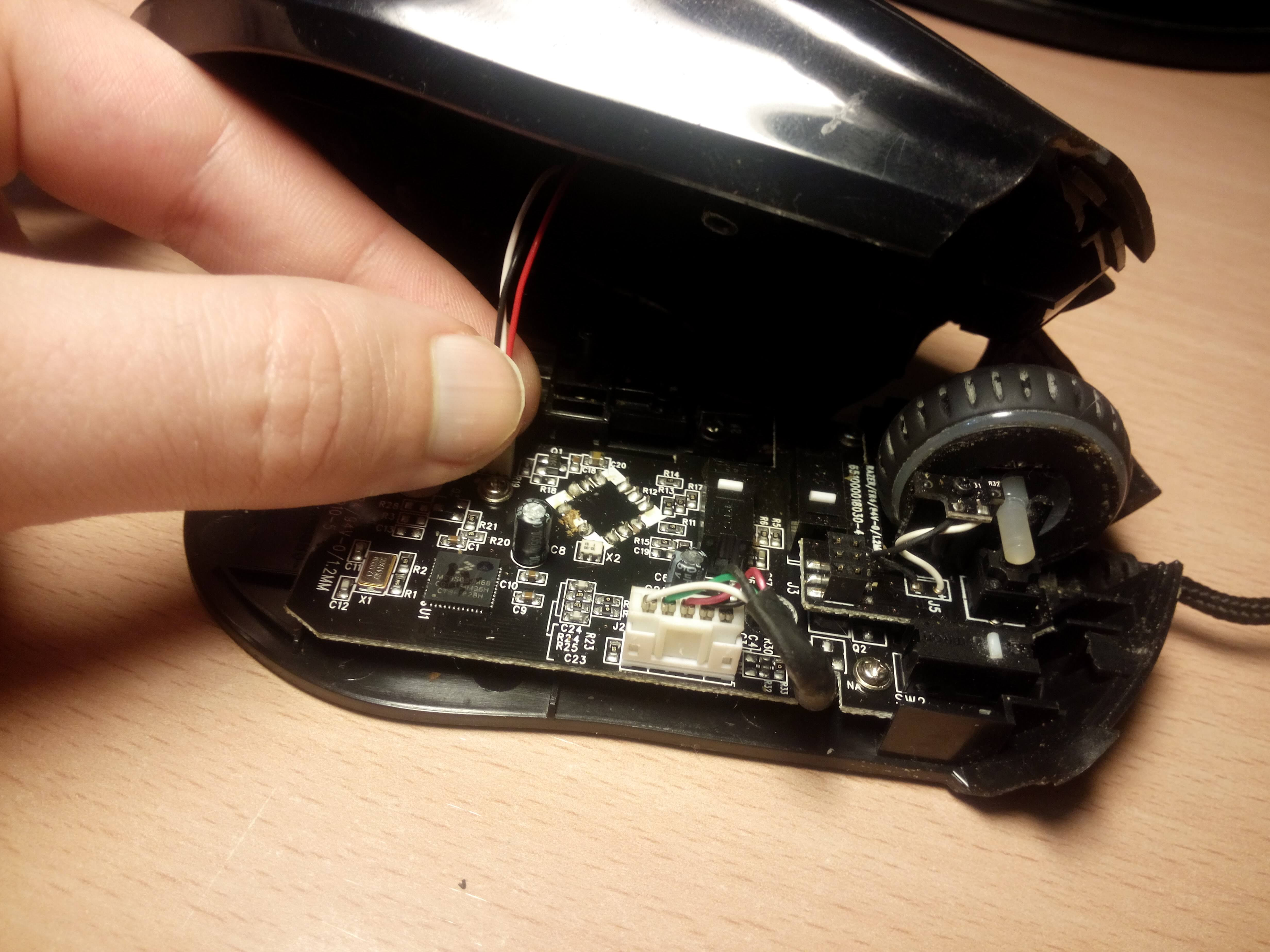 Como limpiar tu ratón - cable led
