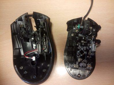 Como limpiar tu ratón - carcasa superior e inferior