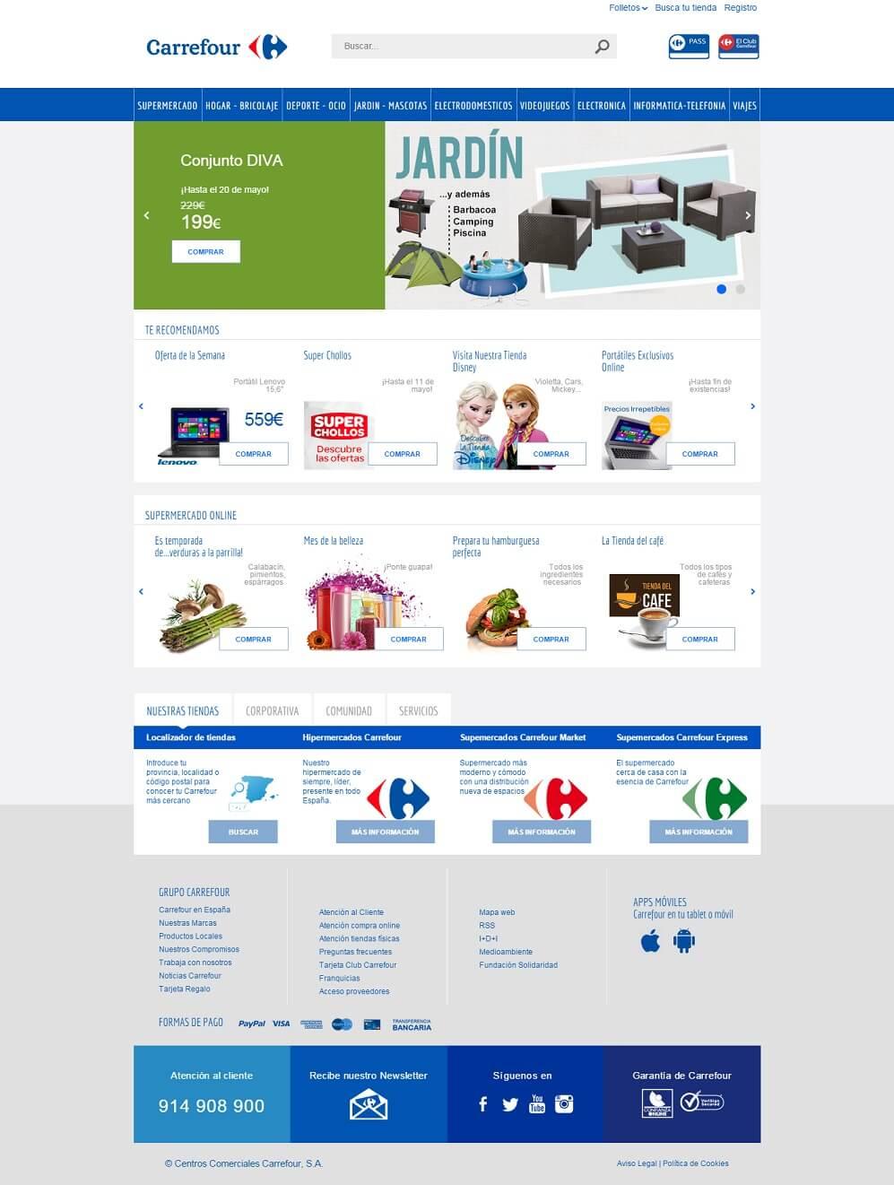 Carrefour elementos básicos del diseño gráfico