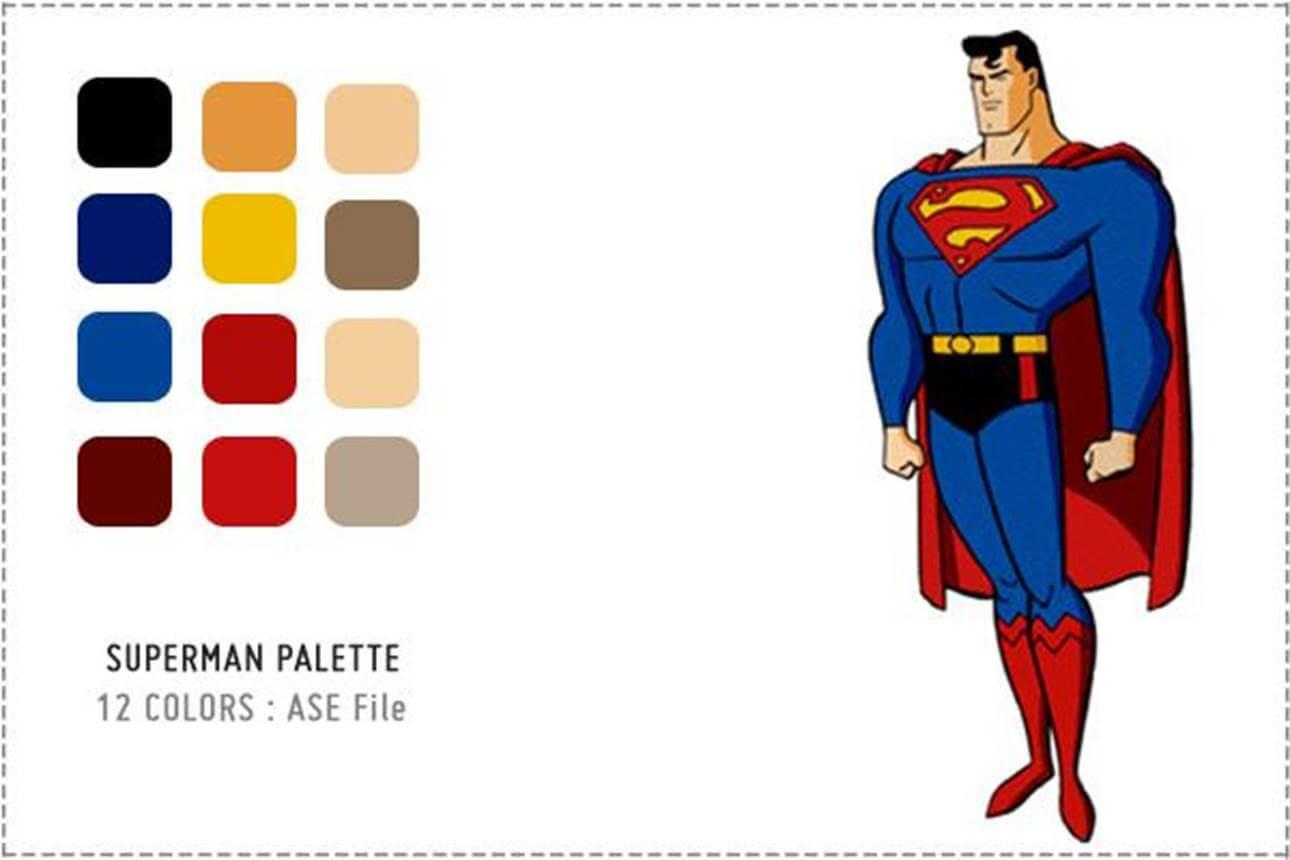 superman elementos básicos del diseño gráfico