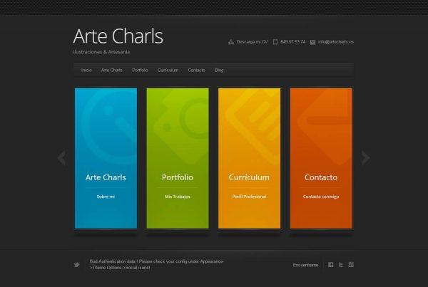 ArteCharls web por Mimedu