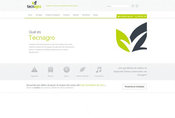 Página web tecnagro por Mimedu.es