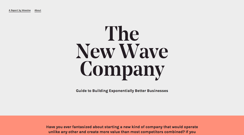 diseño web The New Wave Company