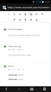 captura mimedu velocidad sitio web